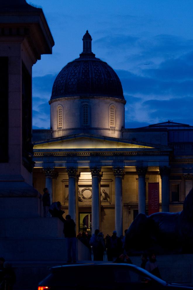 Richard Mills, Dusk At Trafalgar, London.