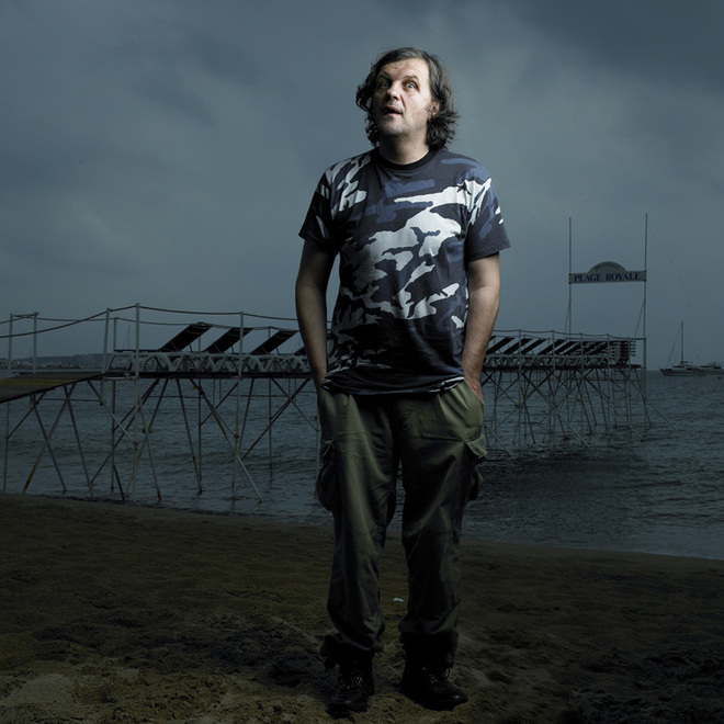 Emir Kusturica portrait taken as part of the Mulholland Cannes series by Denis Rouvre