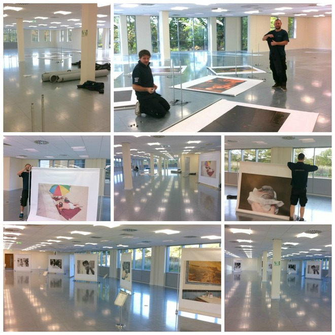Setting up the exhibition at Fore 1 & 2 in Solihull