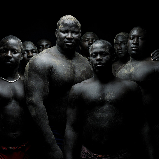 Portrait of Senegalese Wrestlers